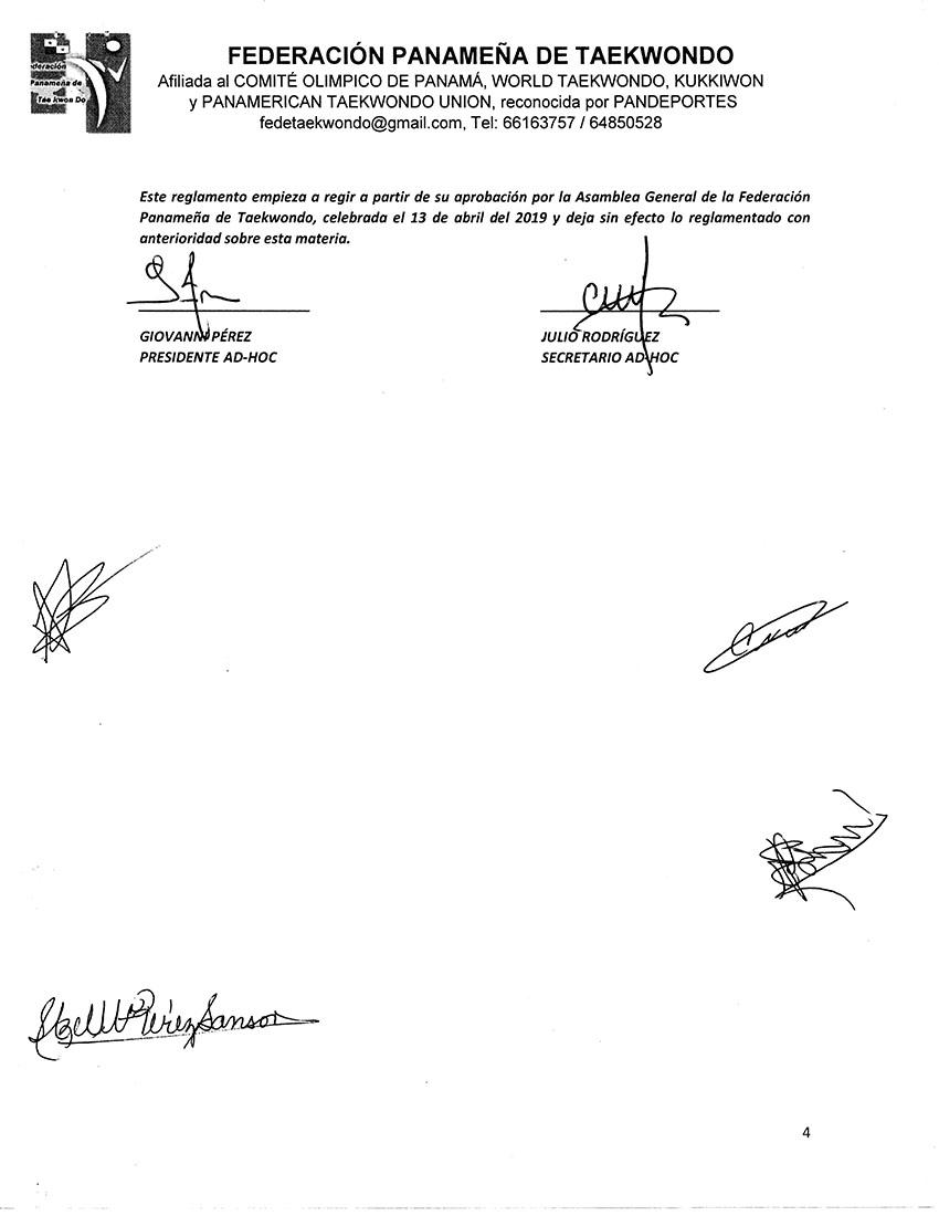 REGLAMENTO DE COMISIONES DE LA FEDERACION PANAMEÑA DE TAEKWONDO_Page_4