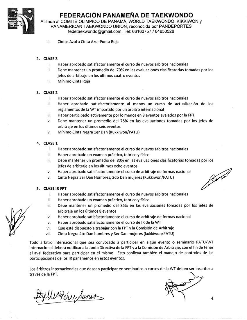 REGLAMENTO INTERNO Y DISPOSICIONES GENERALES PARA LA COMISION DE ARBITRAJE Y ARBITROS DE LA FPT_Page_4