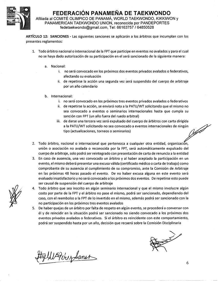REGLAMENTO INTERNO Y DISPOSICIONES GENERALES PARA LA COMISION DE ARBITRAJE Y ARBITROS DE LA FPT_Page_6