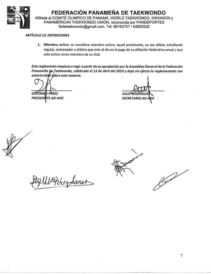 REGLAMENTO INTERNO Y DISPOSICIONES GENERALES PARA LA COMISION DE ARBITRAJE Y ARBITROS DE LA FPT_Page_7