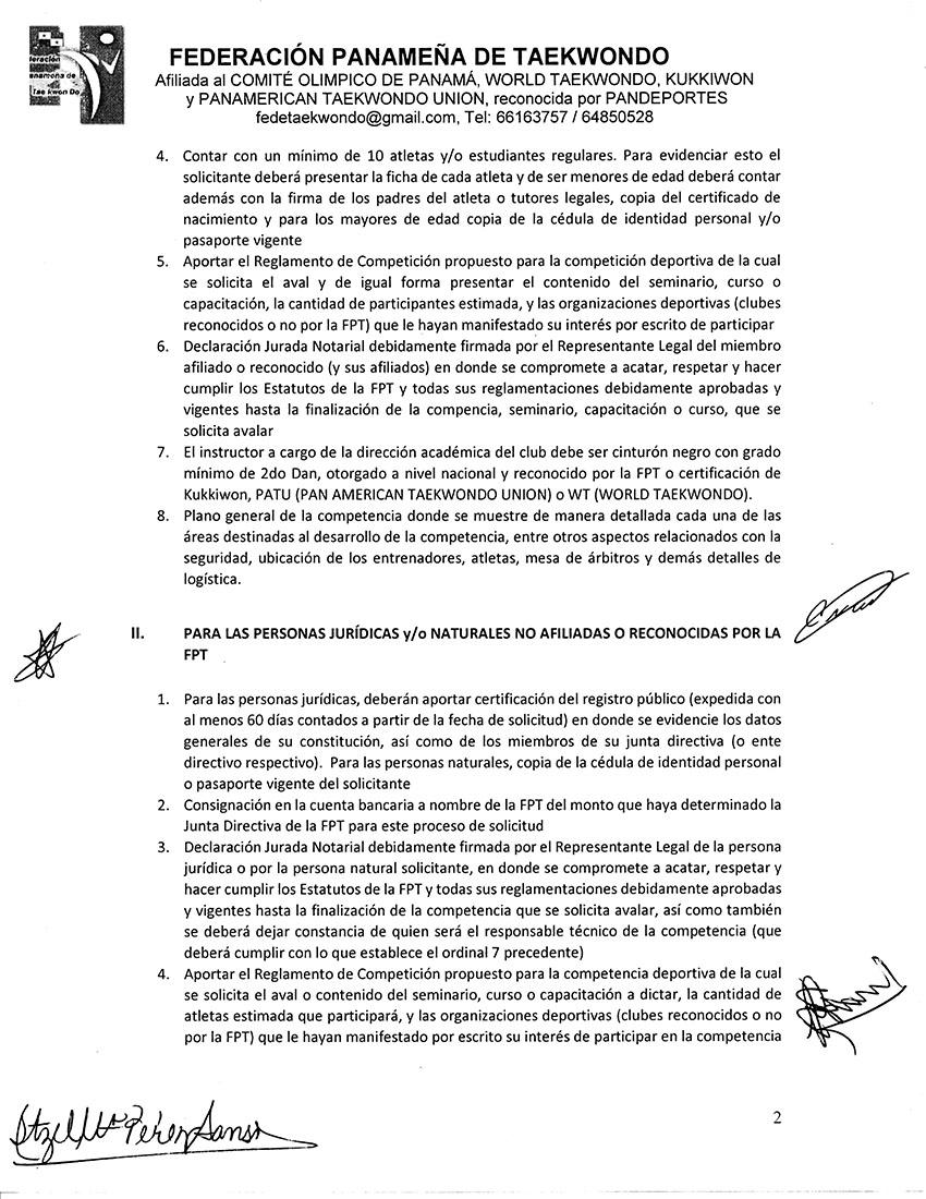 REGLAMENTO PARA EL OTORGAMIENTO DE AVALES PARA COMPETENCIAS_Page_2