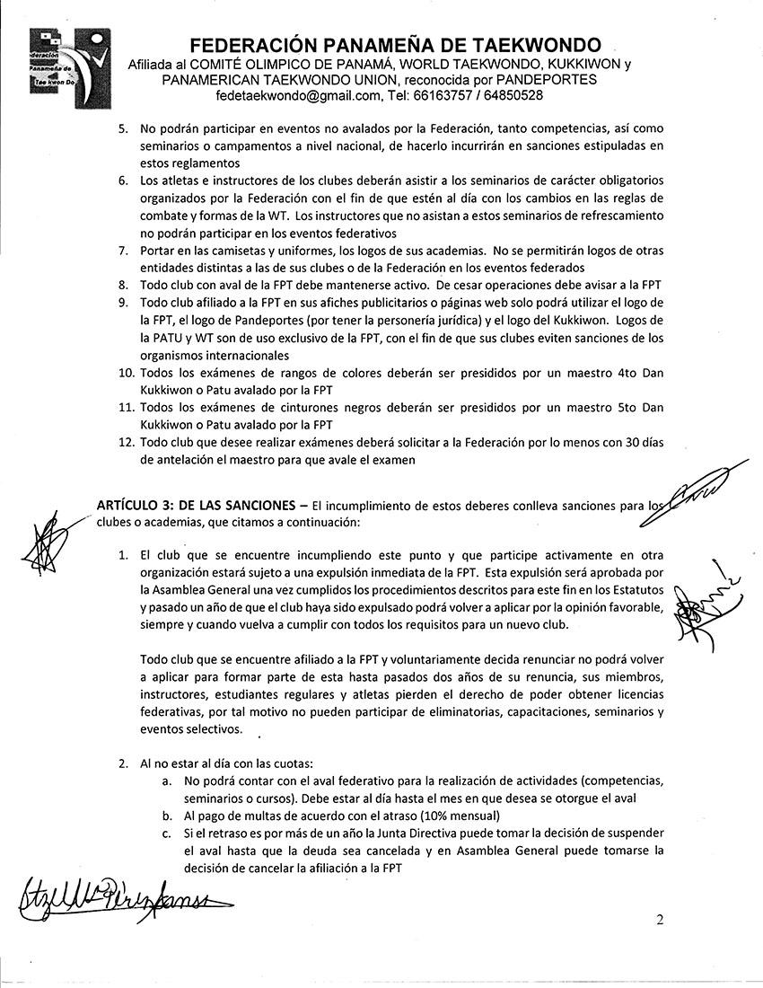 REGLAMENTO PARA SOLICITUDES DE OPINIONES FAVORABLES DE CONSTITUCION EMITIDAS POR LA FPT A CLUBES Y SUS AFILIADOS_Page_2