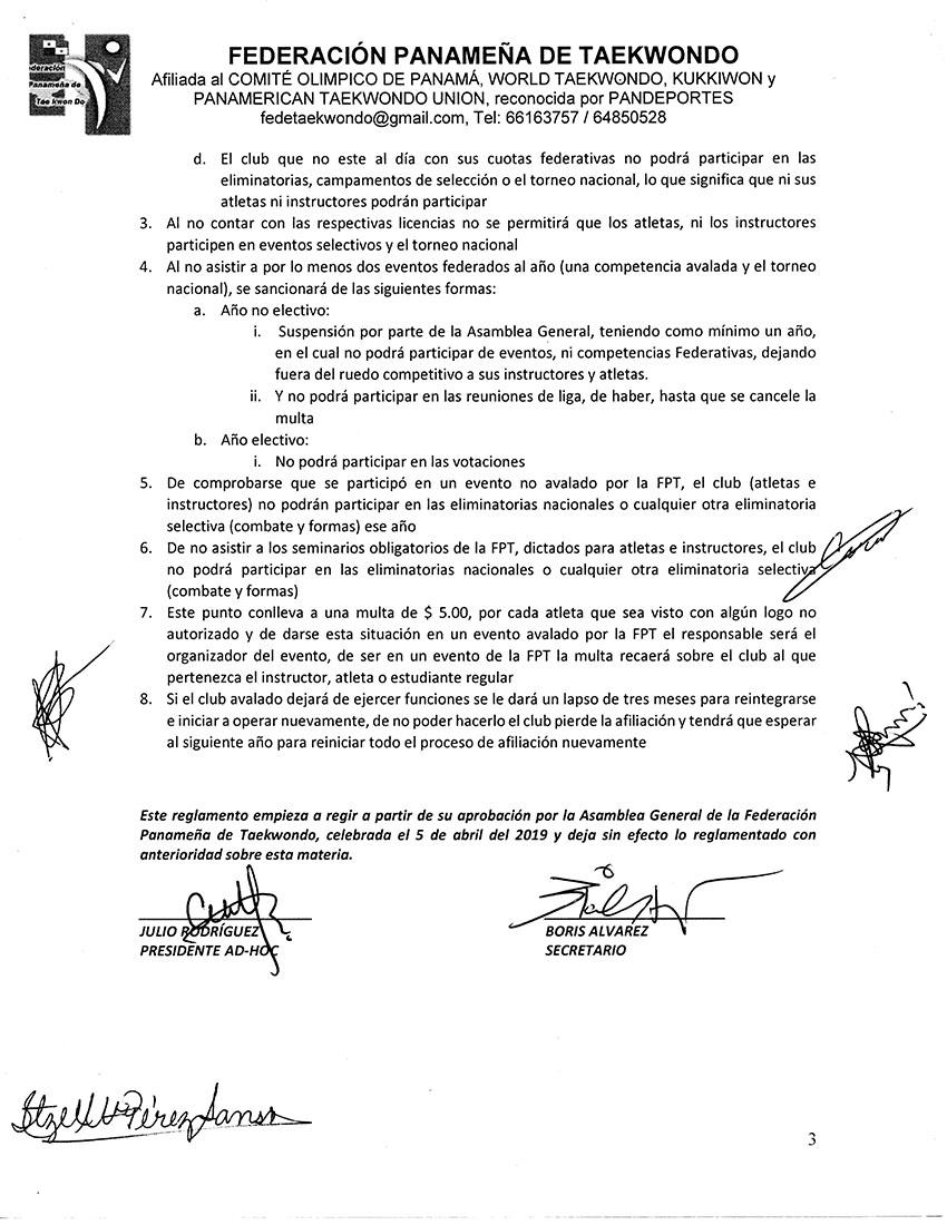 REGLAMENTO PARA SOLICITUDES DE OPINIONES FAVORABLES DE CONSTITUCION EMITIDAS POR LA FPT A CLUBES Y SUS AFILIADOS_Page_3